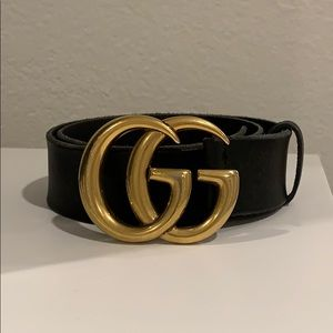 Gucci GG Marmont Leather Belt AUTHENTIC